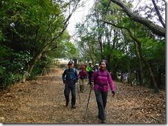 15舞岳への縦走路