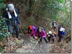09急登の登山道
