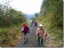 02最終登山口まで少し舗装道を歩きました
