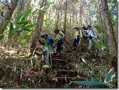 38この登山道は階段が壊れて荒れているので注意