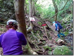 10 三番、ここからが霊場めぐり、岩場登りの始まりです。