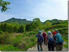 04農道から津波戸山、新緑で岩峰が見えません
