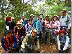 37津波戸山にて登頂写真