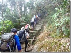 09急登と高いステップできついです