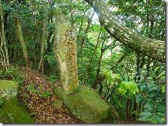 23姫落し岩そばに鬼子嶽の碑