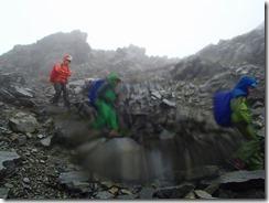 4-02雨がひどく奥穂高岳の縦走をあきらめました