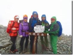 4-01北穂南峰(3106m)登頂写真