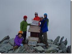 2-16槍ケ岳(3180m)登頂写真