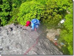 09上から撮影、もちろん徳永ガイドが確保しての登りです