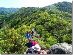 16岩稜歩き、ワンコ岩付近