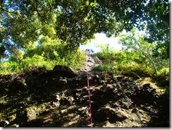 18懸垂下降です。安全を確保しての岩壁下りです