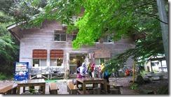 4-05広河原山荘です。昼食タイムです