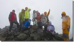 3-05 3番目の高峰、間ノ岳登頂写真