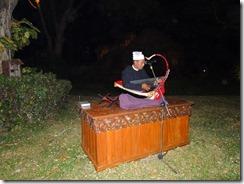 3-22ホテル夕食会場での竪琴の演奏
