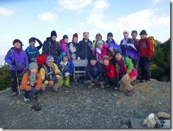 09八郎岳、九州百名山にて登頂写真