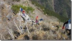 24通過したらマロン岩峰です