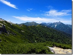 2-14槍ケ岳、穂高連峰、大天井岳と絶景をほしいまま、