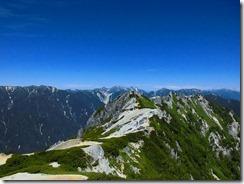 2-20東沢岳、餓鬼岳への縦走路