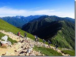 3-06大天井岳への上り