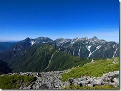3-09今日も素晴らしい天気、槍ケ岳、穂高連峰が見えています