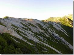 3-03大天井岳への縦走路
