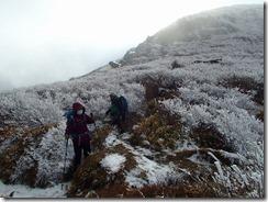 1-18稲星山から白口岳を目指しました