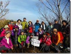 27親父山にて全員の登頂写真