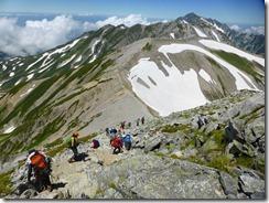 2-16別山へ向かいます、後方は剱岳