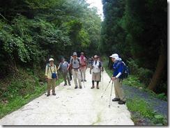 ⑤林道登り先頭グループ