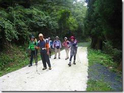 ⑥林道登り第二グループ