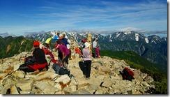 018爺ケ岳と剱岳立山