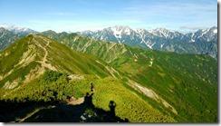 017右に剱岳、立山連峰