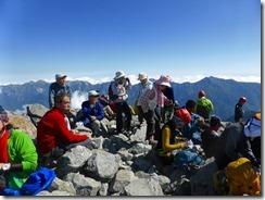 27山頂で昼食