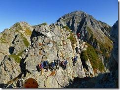 12岩壁のトラバース