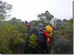 09岩場コース