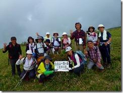 31岩井川岳山頂にて