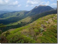 19 沓掛山方面から登山道と三俣山