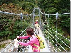 28帰りは吊橋を渡り登山口へ戻りました