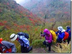 20紅葉を見ながら国見岳への急登