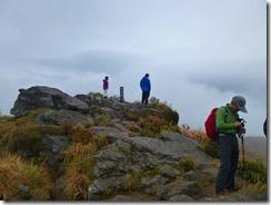 15岩場の普賢岳山頂