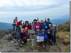 22大箆柄岳山頂にて登頂写真