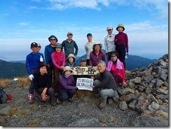 12御岳山頂にて登頂写真