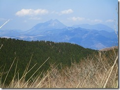 28由布岳、鶴見岳が見えていました