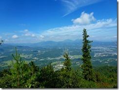 12さらに九重連峰が見えます、阿蘇山も見えました