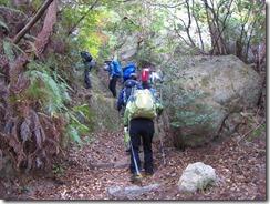 18金立神社上宮への登山道