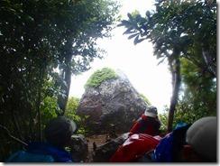21開聞岩、この岩の後ろに開聞岳がかぶさって見えるのですが、天気が悪く写真は駄目