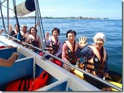 04バナナボートに乗船