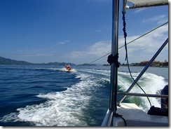 06バナナボートに乗船