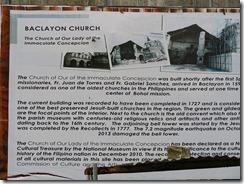 24古い歴史を持つバクラヨン教会、2013のマグネチュード7.2の大地震でダメージを受ける
