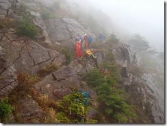 18岩稜帯の通過